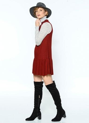 Somedays Lovin Kolsuz Fırfırlı Elbise Bordo